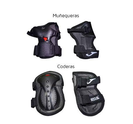 Protecciones-Joma-Ajustables-Rodilleras-Coderas-Y-Muñequeras-Para-Rollers