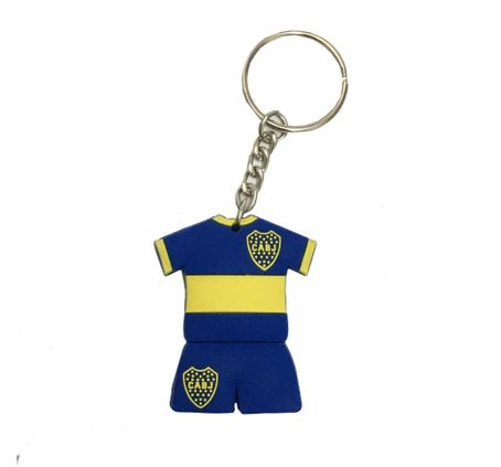 LLAVERO-BOCA-JR-CAMISETA-Y-SHORT