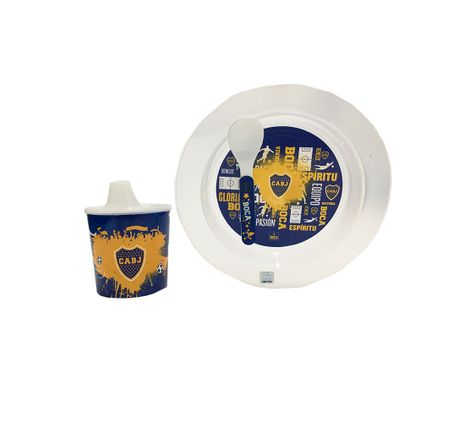 BOCA-JR-SET-PLATO-TAZA-Y-CUCHARA